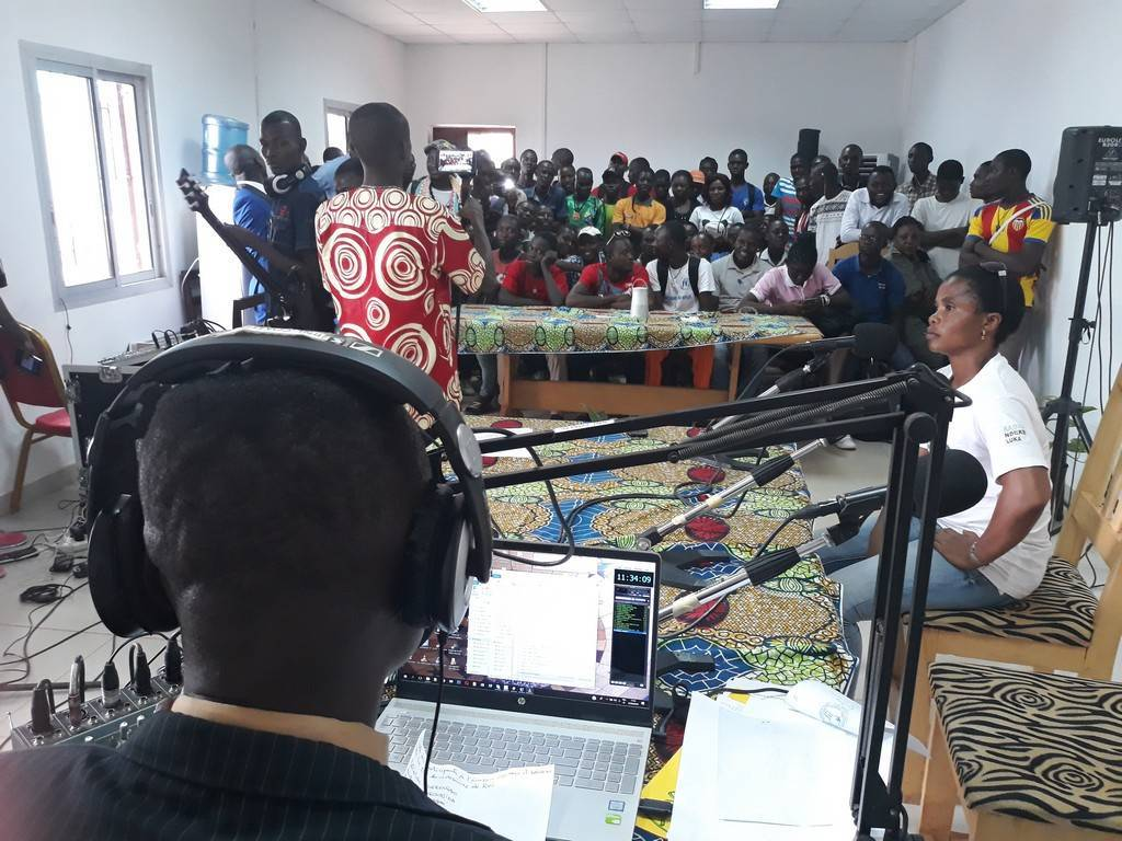 """The """"Mandako"""" broadcast live in the conference room of Radio Ndeke Luka on 27th of March 2019"""
