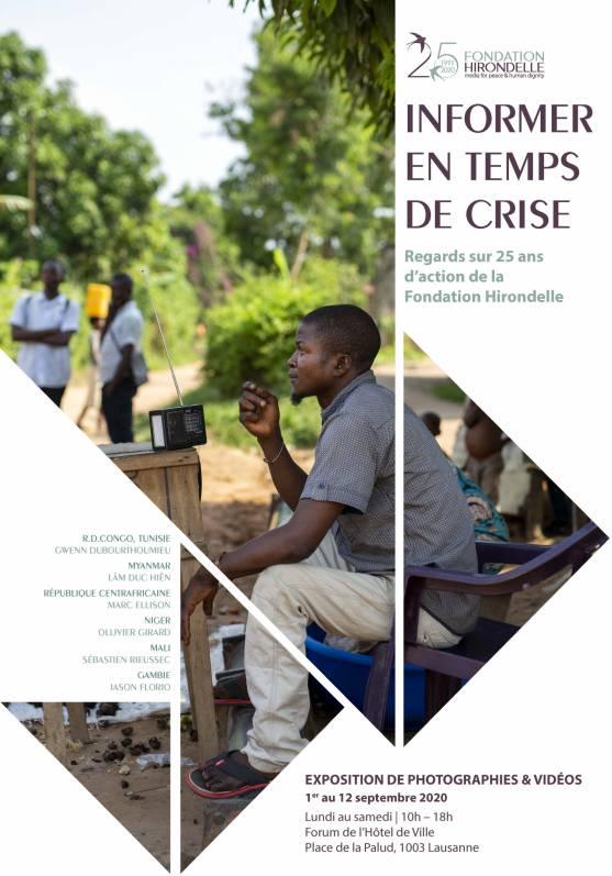 Informer en temps de crise : notre exposition de photos & vidéos à Lausanne
