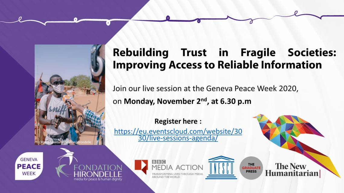 Geneva Peace Week 2020: information and trust at the heart of the discussions
