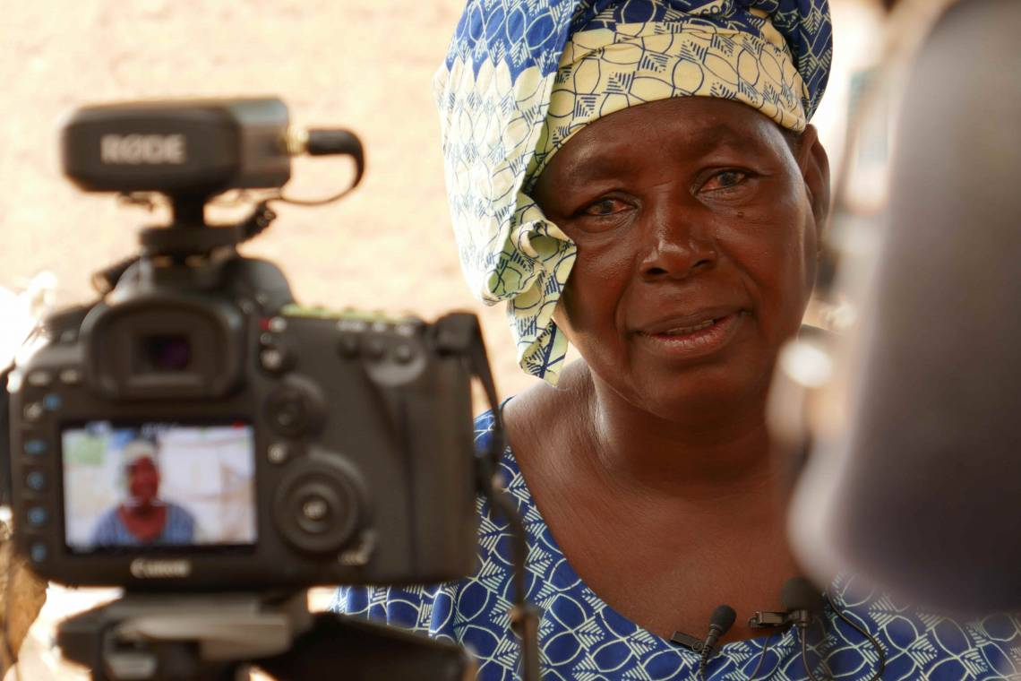 In Bamako, during the production of the documentary on women's access to political responsibilities in Mali.