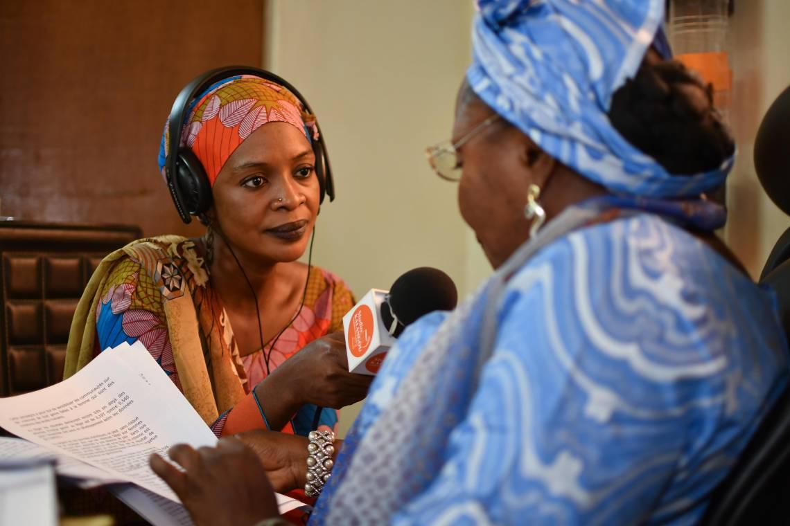 Studio Kalangou journalist reporting in Niamey (Niger).