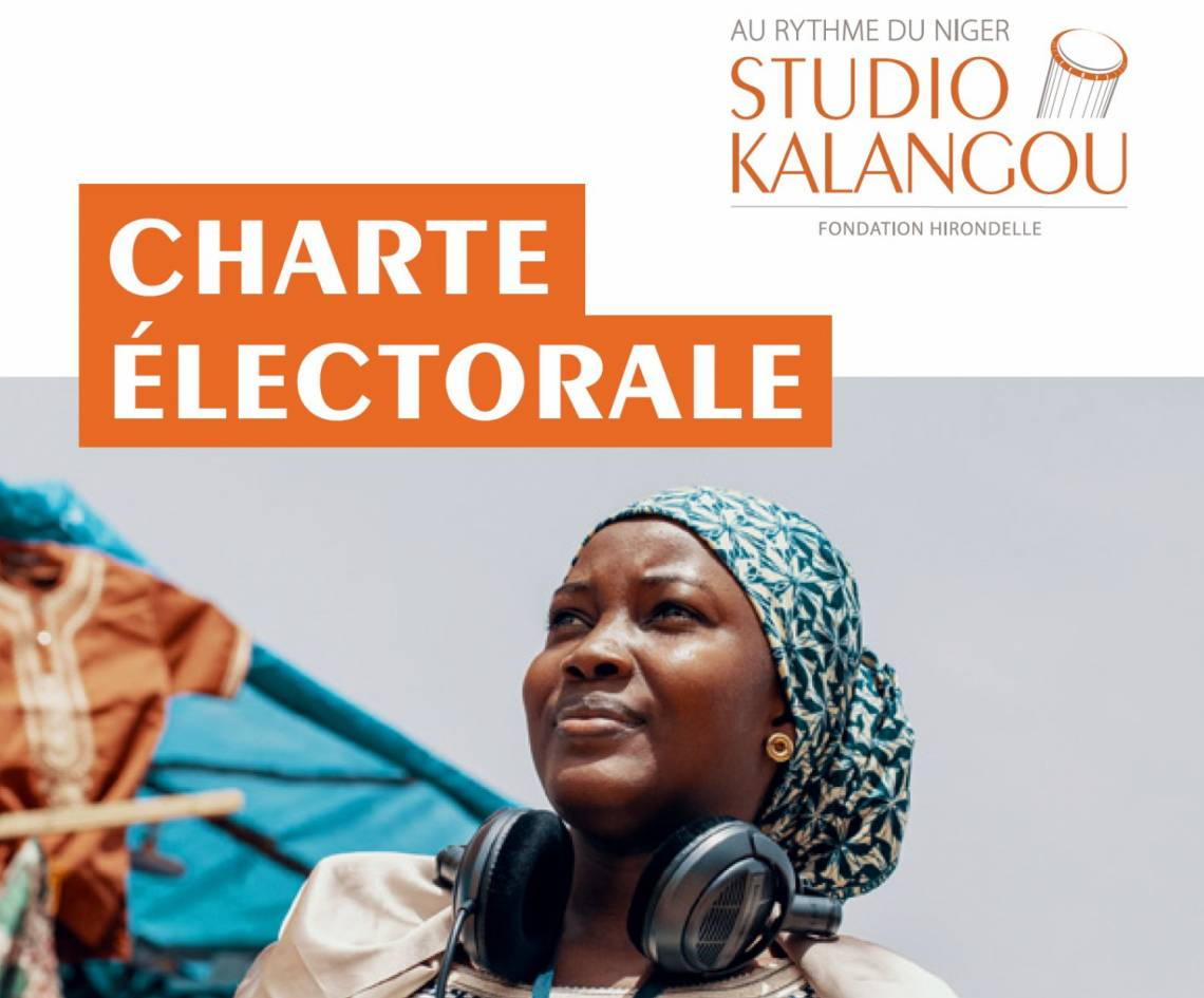Cover page of Studio Kalangou's electoral charter 2020.
