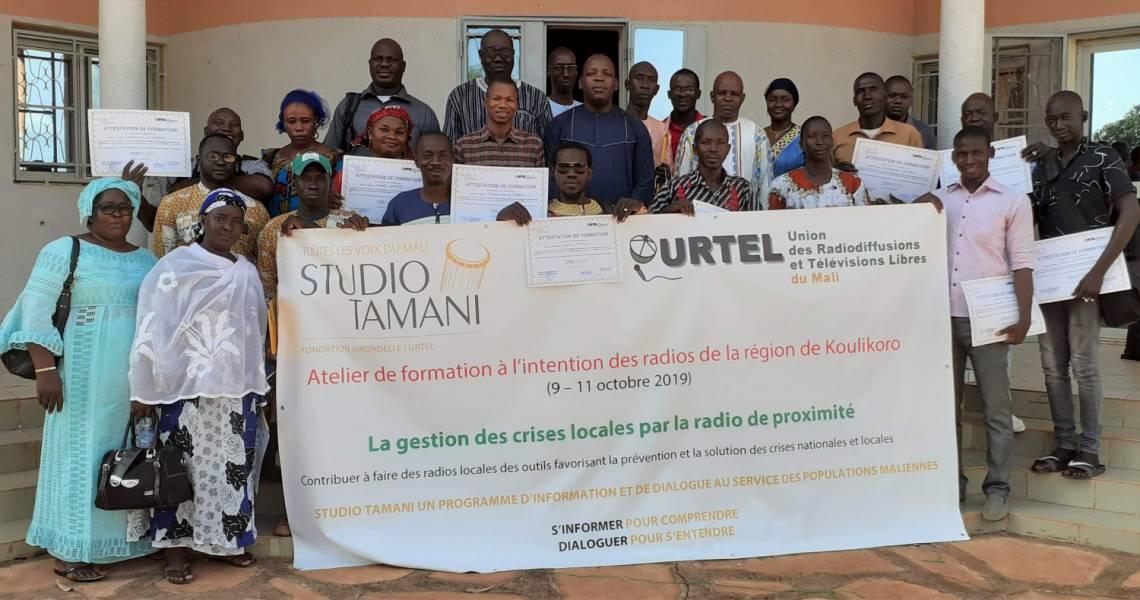 Les participants de la formation en gestion des conflits locaux