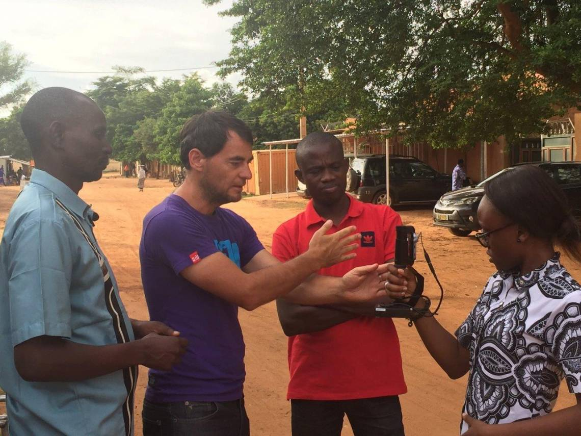 During the training on the journalistic coverage of climate change in Niamey, Niger, from August 13 to 18, 2018.