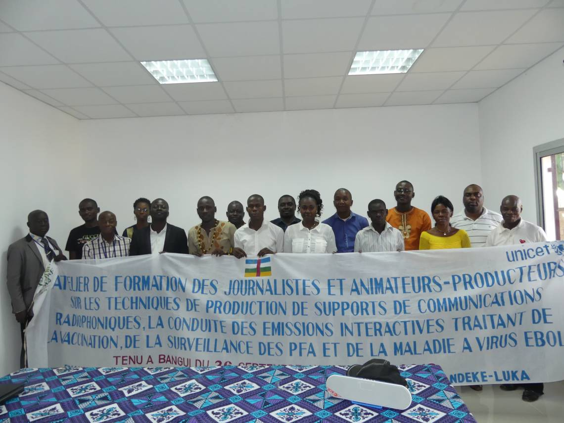 Participants in the training in Bangui.