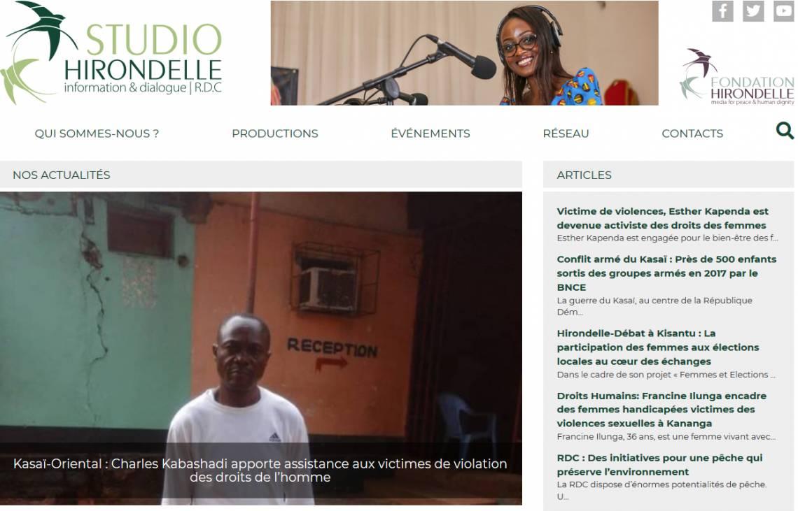 Launch of the Studio Hirondelle DRC website