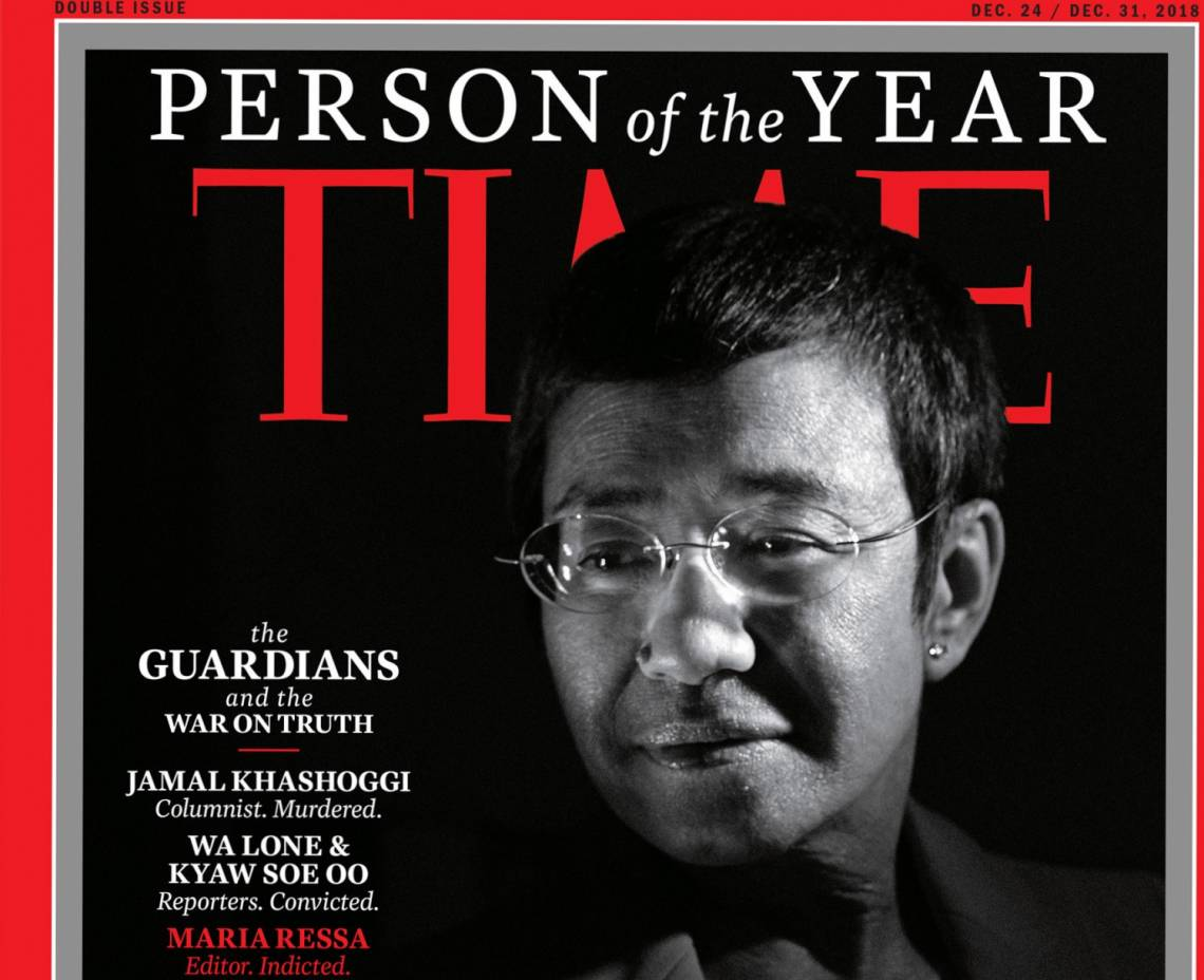 Maria Ressa, director of the investigative website Rappler.com in the Philippines, has been named Time Magazine's 2018 Person of the Year.