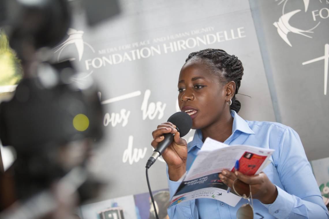 Pendant un débat organisé par la Fondation Hirondelle à Kinshasa