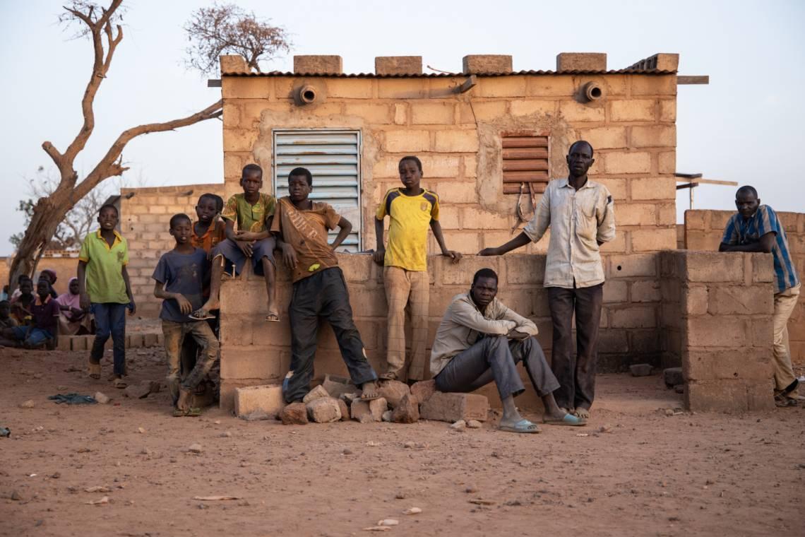 Déplacés dans le Nord du Burkina Faso, en février 2020.