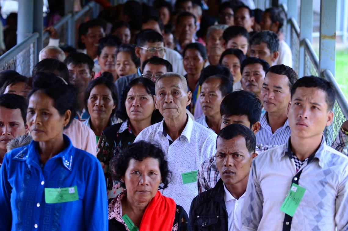 Audience devant les Chambres extraordinaires au sein des tribunaux cambodgiens (CETC), novembre 2012.