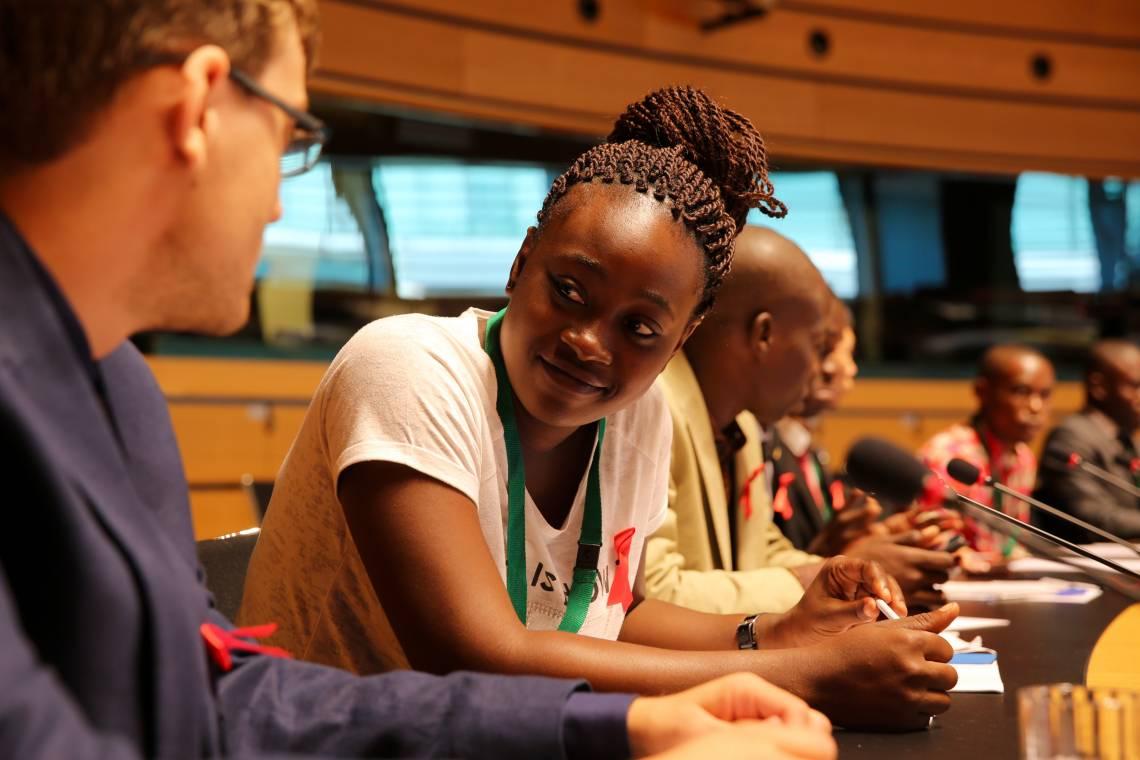 Lors de l'ouverture du Parlement francophone des jeunes à Luxembourg, le jeudi 06 juillet 2017.