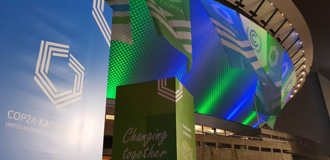 The building hosting COP24 summit in Katowice, Poland.