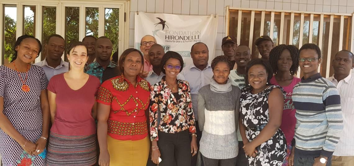 L'équipe de Studio Yafa, à Ouagadougou au Burkina-Faso, en janvier 2019.