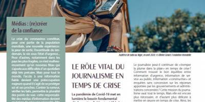 Le rôle vital du journalisme en temps de crise - MEDIATION N°5