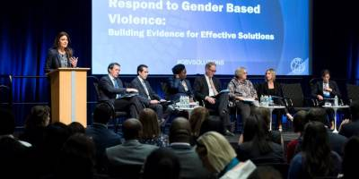 A World Bank award for innovative work on the prevention of gender based violence
