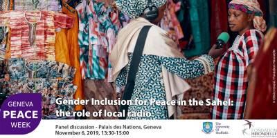 Geneva Peace Week : notre conférence sur le rôle des femmes et des médias pour la paix au Sahel