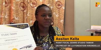 A gender label for Studio Tamani in Mali