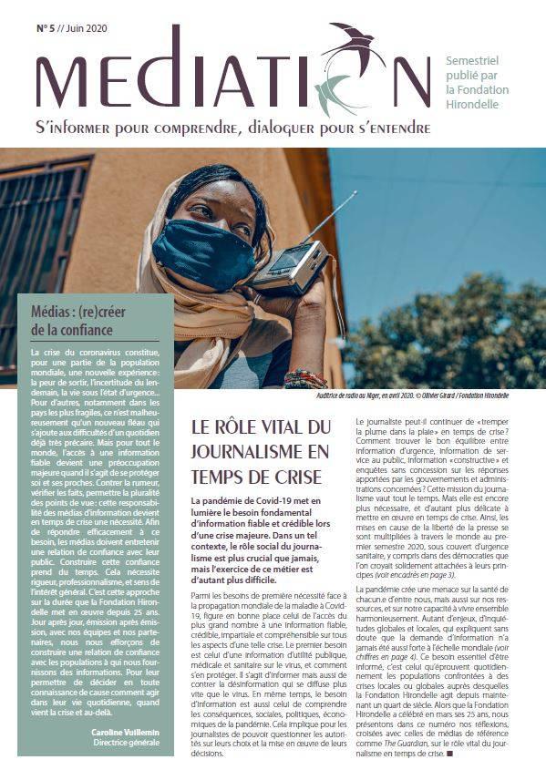 Le rôle vital du journalisme en temps de crise - MEDIATION N°5