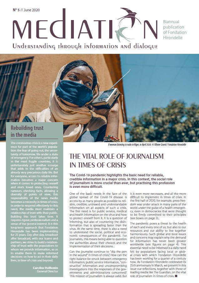 The Vital Role of Journalism in Times of Crisis - MEDIATION N°5