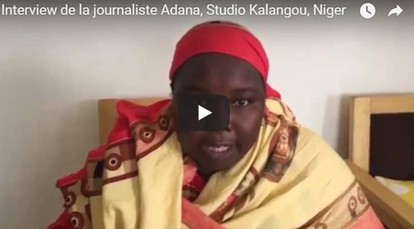Interview of the journalist Adana, Studio Kalangou, Niger