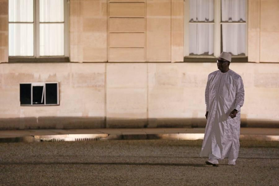 Le président Ibrahim Boubacar Keita arrive à l'Elysée le 31 octobre 2017 pour une rencontre avec son homologue Emmanuel Macron