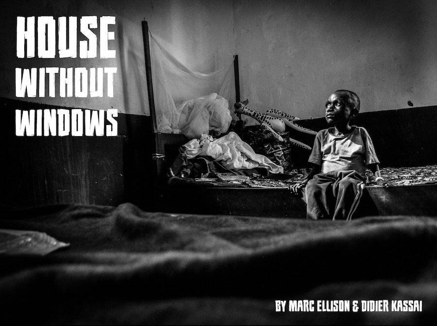 "Front page of ""House without windows"", a web comic about children faced with the Central African Republic crisis."